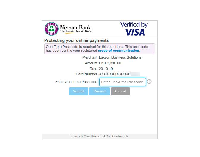 Pay StormFiber Bill Online Enter One-Time Passcode