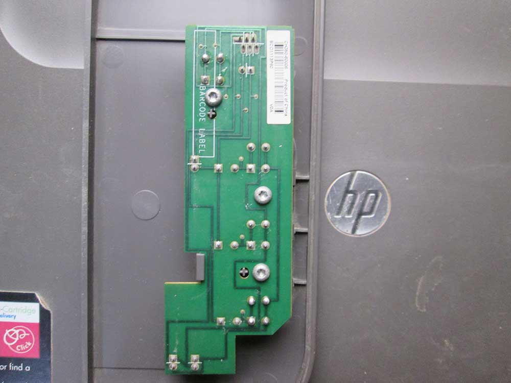 Circuit board attached to the plastic panel