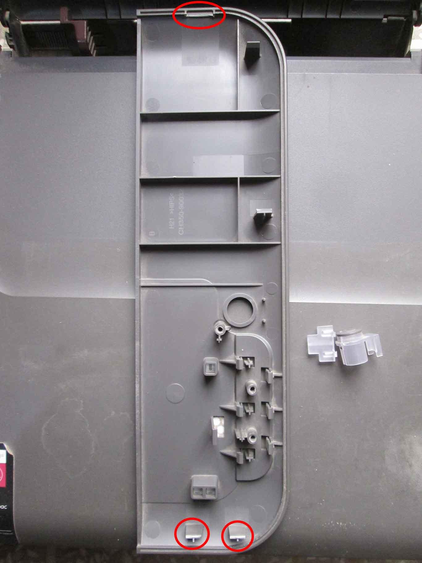 HP DeskJet 1050 Top Left Panel Removed